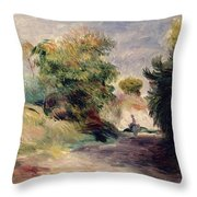 Landscape Near Cagnes Throw Pillow