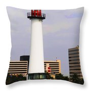 Lions Lighthouse For Sight Throw Pillow