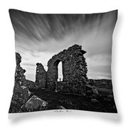 Llanddwyn Island Ruins Throw Pillow