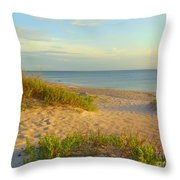 Longboat Key Beach View Throw Pillow