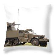 M16 Halftrack Throw Pillow