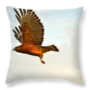 Majestic Red Shoulder Hawk Throw Pillow