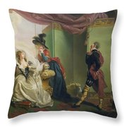 Malvolio Before Olivia - From 'twelfth Night'  Throw Pillow
