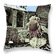 Mission Floral Throw Pillow