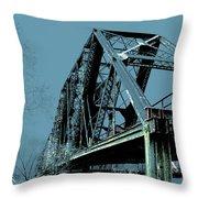 Mississippi River Rr Bridge At Memphis Throw Pillow
