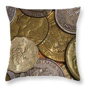 Money Money Money Throw Pillow