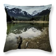 Muleshoe Pond Reflection Banff Throw Pillow