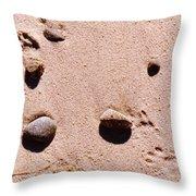 Paws On The Beach Throw Pillow