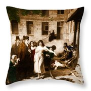 Pitie-salpetriere Hospital, 1795 Throw Pillow by Photo Researchers