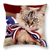 Portrait Of A Patriot Throw Pillow