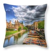 River Cam - Cambridge Throw Pillow