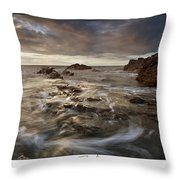 Rocky - At Trearddur Bay Throw Pillow