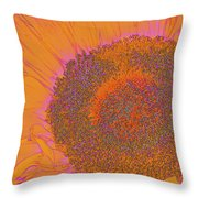 Sunflower In Orange And Pink Throw Pillow