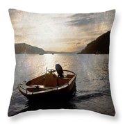 Sunset At Careel Bay Throw Pillow