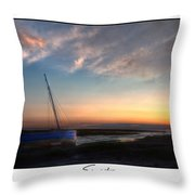 Sunset Down The River Throw Pillow