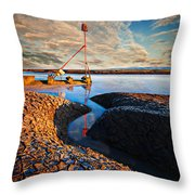 Sunset On The Marker Throw Pillow
