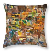 The Essense Of Each Matter Throw Pillow