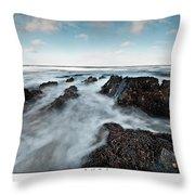 Welsh Coast Throw Pillow