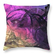 When The Night Comes Throw Pillow by Linda Sannuti