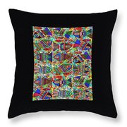 X 18 Talavera Fish Blessings Throw Pillow