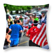 0001 Buffalo Marathon Series 2012  Throw Pillow