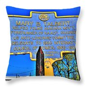 0001 Buffalo Ny History Throw Pillow