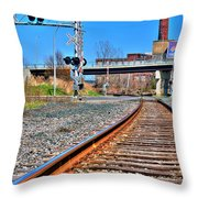 0001 Train Tracks Throw Pillow