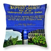 0002 Buffalo Ny History Throw Pillow
