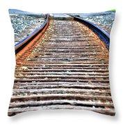 0002 Train Tracks Throw Pillow