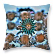 0002 Turquoise And Pearls Throw Pillow