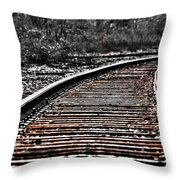 0003 Train Tracks Throw Pillow
