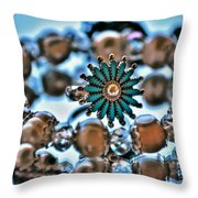 0003 Turquoise And Pearls Throw Pillow