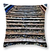 0004 Train Tracks  Throw Pillow