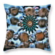 0004 Turquoise And Pearls Throw Pillow