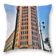 001 Electric Tower Throw Pillow