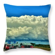 001 Grand Island Bridge Series  Throw Pillow