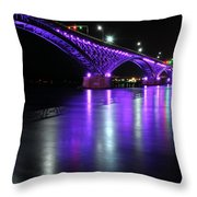 001 Peace Bridge Honoring Breast Cancer 2012 Series Throw Pillow