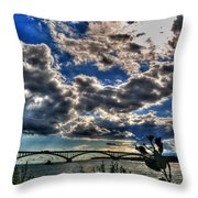 001 Peace Bridge Series II Beautiful Skies Throw Pillow