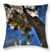 001 Reaching For The Sky Throw Pillow