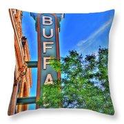 001 Sheas Buffalo Throw Pillow