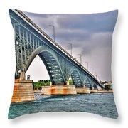 001 Stormy Skies Peace Bridge Series Throw Pillow