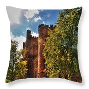 001 The 74th Regimental Armory In Buffalo New York Throw Pillow