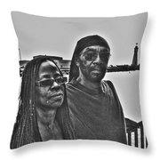 0013 The Lion And Lioness Throw Pillow