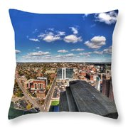 0017 Autumn Days Of Buffalo Ny Birds Eye Throw Pillow