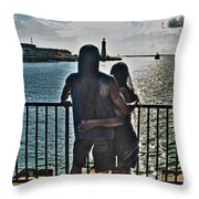0017 The Lion And Lioness As One Throw Pillow