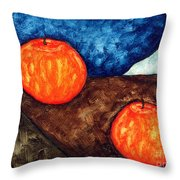 Still Life With Apples I Throw Pillow