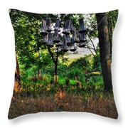 002 Bat Homes Throw Pillow