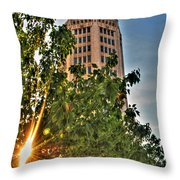 002 Electric Tower At Sunrise  Throw Pillow