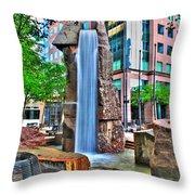 002 Fountain Plaza Throw Pillow