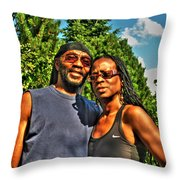 002 The Lion And Lioness Throw Pillow